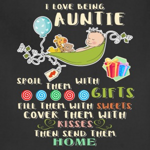 I Love Being Auntie T Shirt - Adjustable Apron