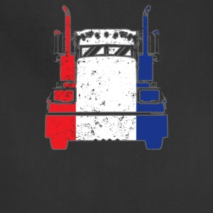 French Trucker Shirt France Flag Trucker Dad Shirt - Adjustable Apron