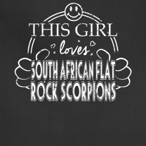 Girl Loves South African Flat Rock Scorpion Pet Scorpion - Adjustable Apron