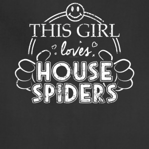 Girl Loves House Spiders Pets Shirt Araneae Pet - Adjustable Apron