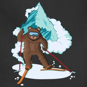 Skiing Bear - Adjustable Apron