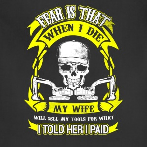 When I Die Heavy Equipment Operator T-Shirts - Adjustable Apron