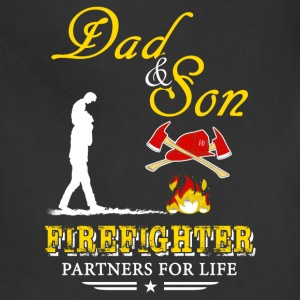 Dad And Son Firefighter T-Shirts - Adjustable Apron