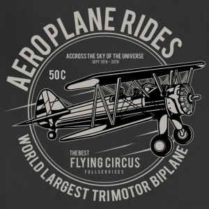 Aeroplane Rides. Retro Flying Circus Fan Shirt! - Adjustable Apron