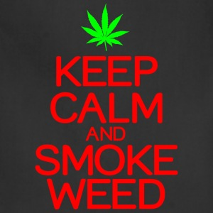 Keep calm smoke weed - Adjustable Apron