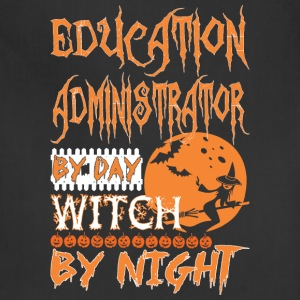 Education Administrator Day Witch Night Halloween - Adjustable Apron