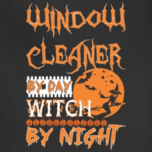 Window Cleaner By Day Witch By Night Halloween - Adjustable Apron