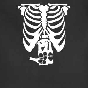 Beer Belly Xray Skeleton Funny - Adjustable Apron