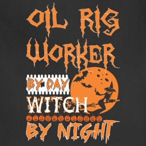Oil Rig Worker By Day Witch By Night Halloween - Adjustable Apron