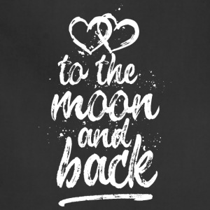 Love you To the moon and back - white - Adjustable Apron