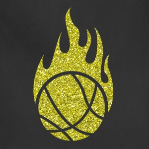 Golden Basketball burning Ball Heat Flames Glitter - Adjustable Apron