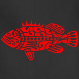 Fish Maori Red - Adjustable Apron