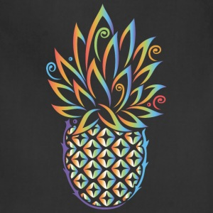 Pineapple, summer, rainbow tattoo style - Adjustable Apron