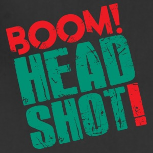 Boom Headshot! Red/Blue - Adjustable Apron