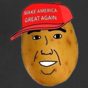 maga potato logo - Adjustable Apron