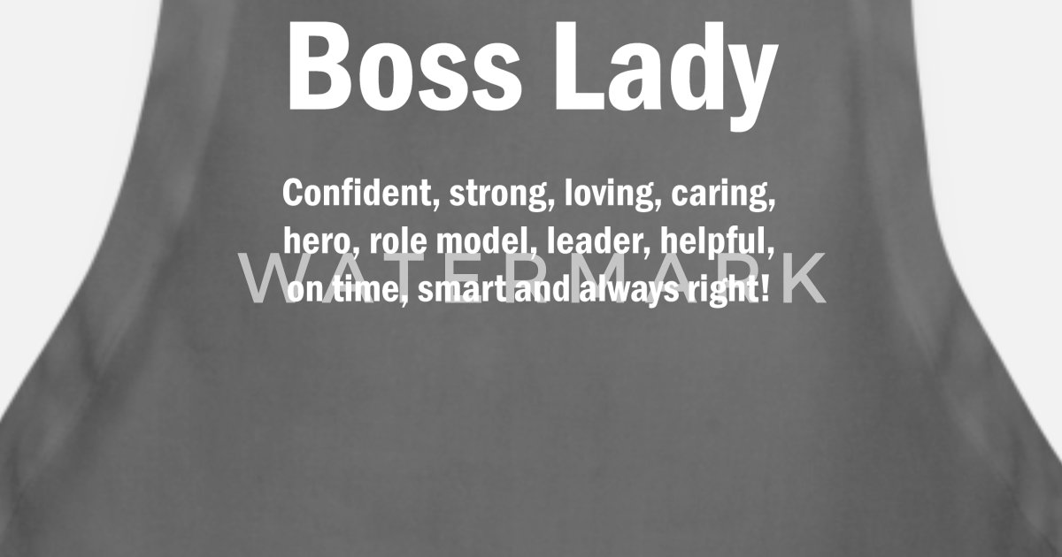 Boss Lady English Quotes Mom Wife Mothers Apron Spreadshirt