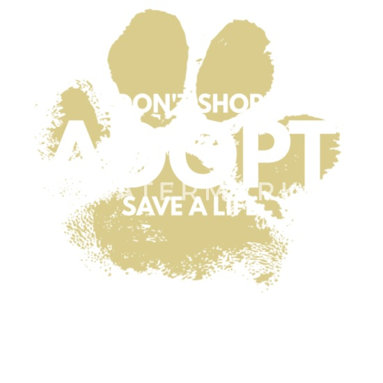 Don/'t Shop Adopt Save A Life Tote Bag Dog Cat Lover Gift Shopping Mother/'s Day