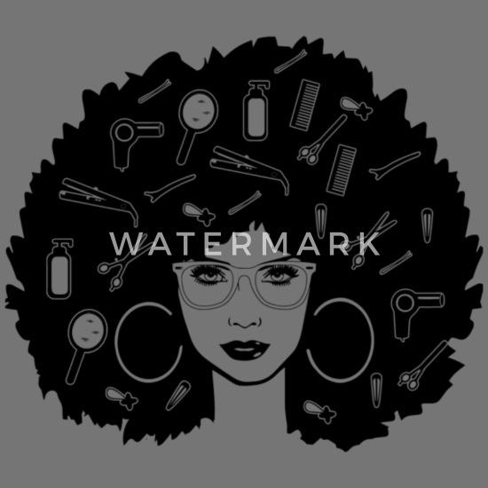Black Woman Hair Afro Beauty Salon Logo Classy Apron Spreadshirt