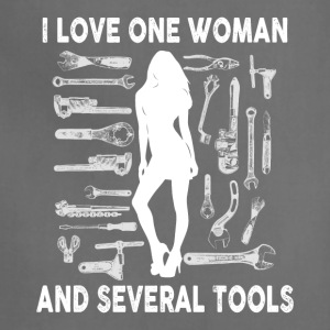 Mechanic I love one woman and several tools - Adjustable Apron