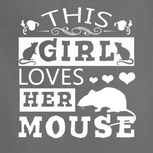 This Girl Loves Her Mouse Shirt - Adjustable Apron
