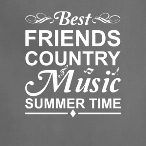 Best Friends Country Music Summer Time - Adjustable Apron