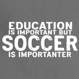 Education is important but Soccer is importanter - Adjustable Apron