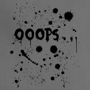Oops text with ink splatter - Adjustable Apron