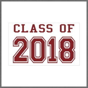 class of 2018 red sticker rectangle - Adjustable Apron