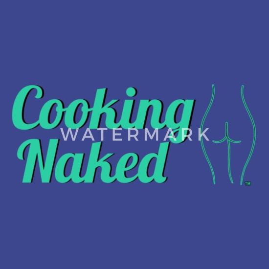 Cooking Naked Apron - Royal Blue Apron | Spreadshirt