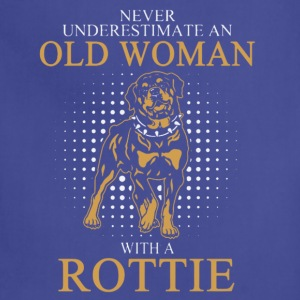 OLD WOAN ROTTIE DOGS T-Shirt - Adjustable Apron
