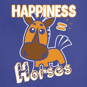 Horses Happiness T-shirt - Adjustable Apron
