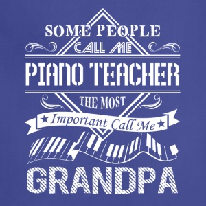 Piano Teacher Grandpa Shirt - Adjustable Apron