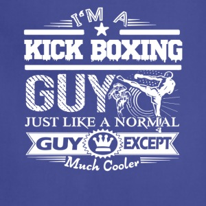 Cool Kick Boxing Guy Shirt - Adjustable Apron