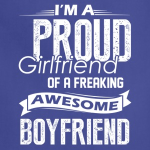 Proud Girlfriend Of A Awesome Boyfriend Shirt - Adjustable Apron