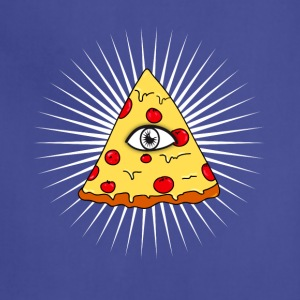 illuminati pizza All Seeing eye food Pyramide illu - Adjustable Apron