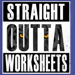 Straight Outta Worksheets T Shirt - Adjustable Apron