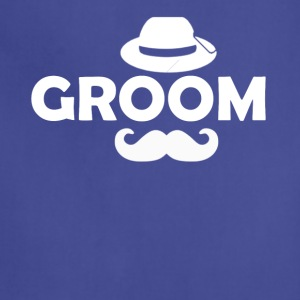 Groom Mustache Bachelor Party T-Shirt - Adjustable Apron