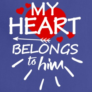 My heart belongs to him - Adjustable Apron