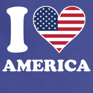 I Love America American Flag Heart - Adjustable Apron