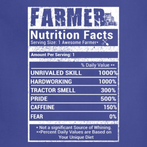 Farmer nutrition facts T Shirts - Adjustable Apron