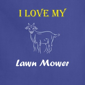 I Love my Lawn Mower Goat Tee - Adjustable Apron