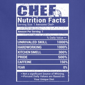 Chef nutrition T-Shirts - Adjustable Apron