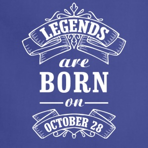 Legends are born on October 28 - Adjustable Apron