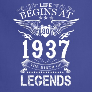 Life Begin At 80 1937 The Birth Of Legends - Adjustable Apron