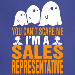 You Cant Scare Me Sales Representative Halloween - Adjustable Apron