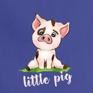 little pig piggy pink Comic cute animal baby face - Adjustable Apron