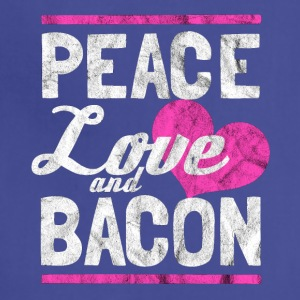 Peace, love and bacon - Gift for bacon lover - Adjustable Apron