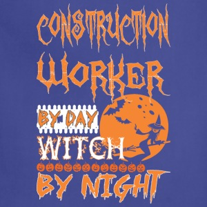 Construction Worker By Day Witch By Night Hallowee - Adjustable Apron