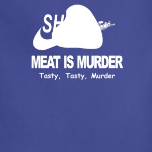 Meat Is Murder Tasty Tasty Murder Funny BBQ - Adjustable Apron