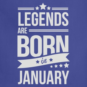 Legends Are Born In January - Adjustable Apron